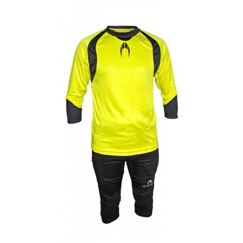 Set de portero HO Soccer lima (camiseta + pirata)