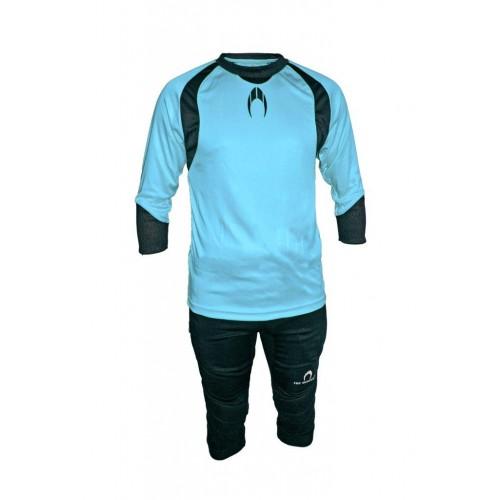 Set de portero HO SOCCER azul (camiseta + pirata)